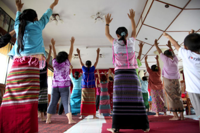 Arts and personal stories, self care for Burmese women survivors
