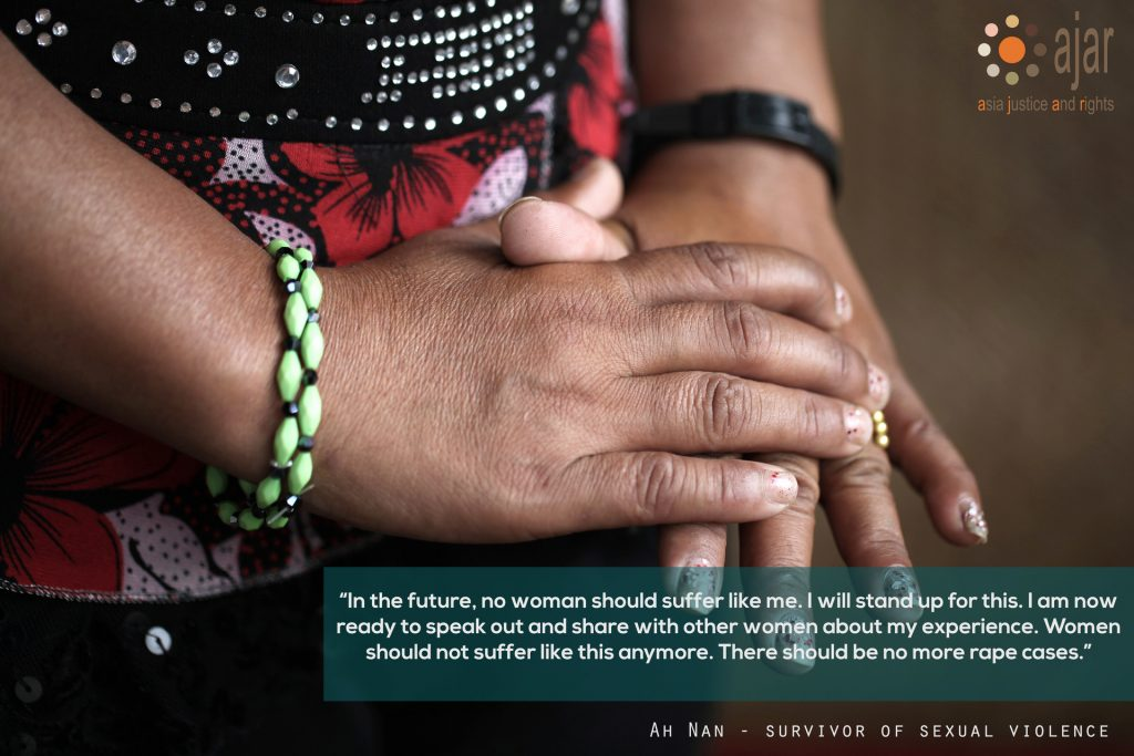 Access to Justice for Women Survivors of Gender-based Violence Committed by State Actors in Burma