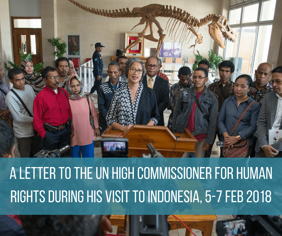 Letter Submission to the UN High Commissioner for Human Rights' Visit to Indonesia, 5-7 February 2018