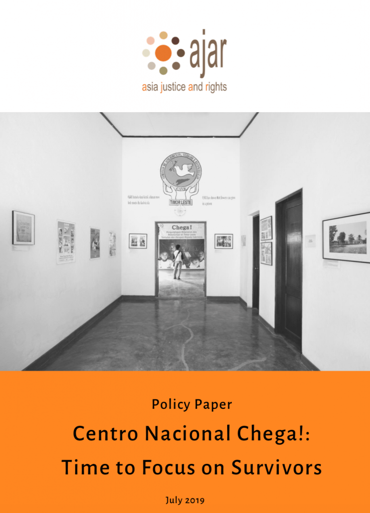 [Press Release]'Centro Nacional Chega!:Time to Focus on Survivors' Policy Paper Launch on the Second-Year Anniversary of the Centro Nacional Chega!