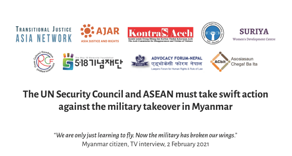 The UN Security Council and ASEAN must take swift action against the military takeover in Myanmar